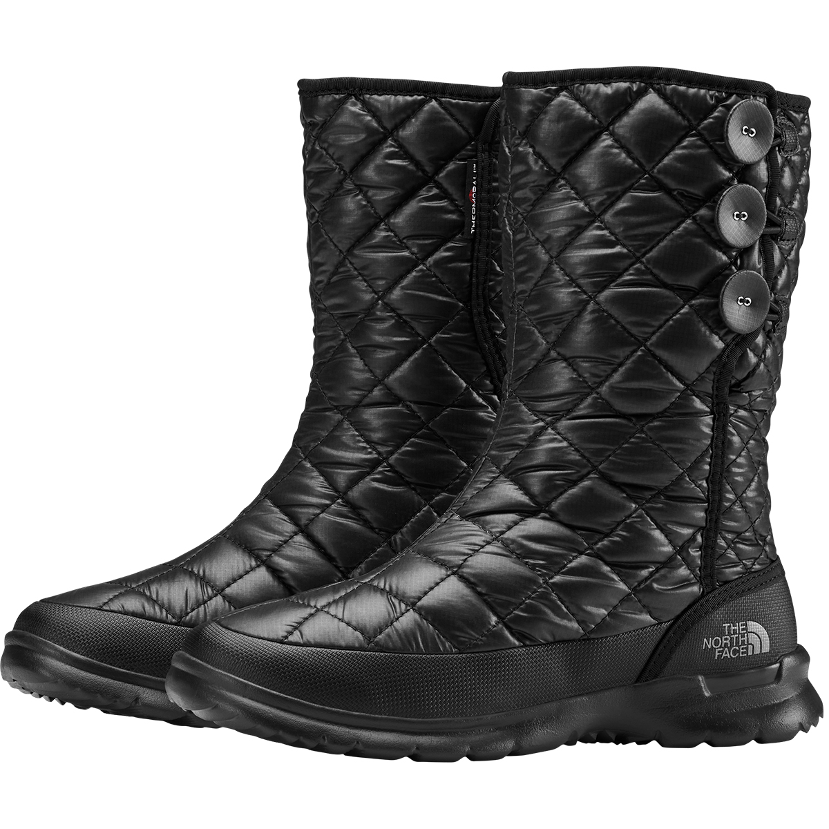 The North Face Women's Thermoball Eco Button Up Boot - Black, 10