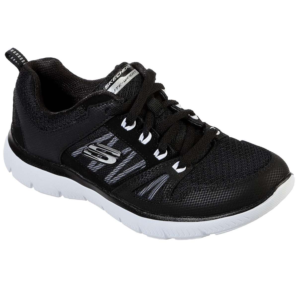 Skechers Women's Summits New World Sneakers - Black, 7