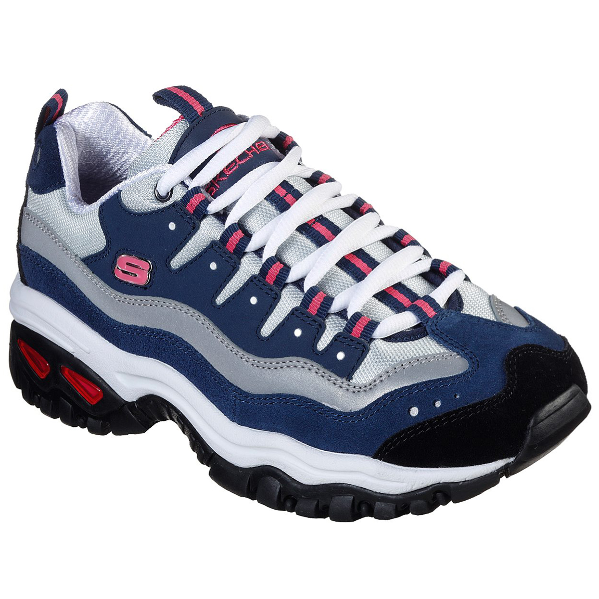 Skechers Women's Energy Wave Sneakers - Blue, 9.5