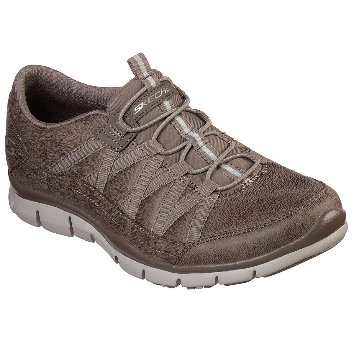 Skechers Women's Gratis Casual Slip On Shoes - Brown, 7