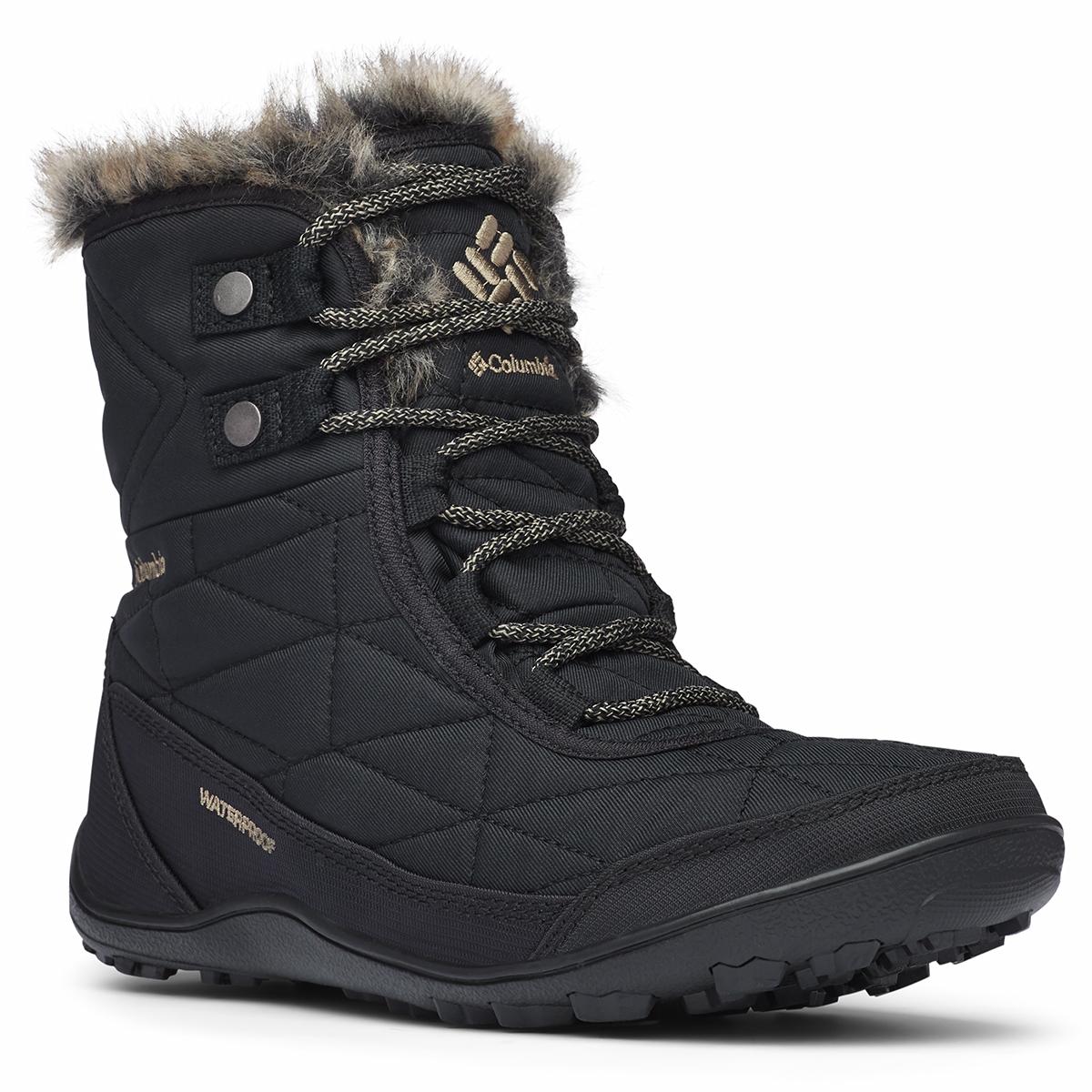 Columbia Women's Minx Shorty 3 Waterproof Boot - Black, 10