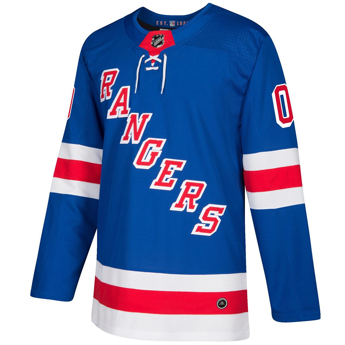 New York Rangers Adidas Men's Adizero Authentic Home Jersey - Blue, L