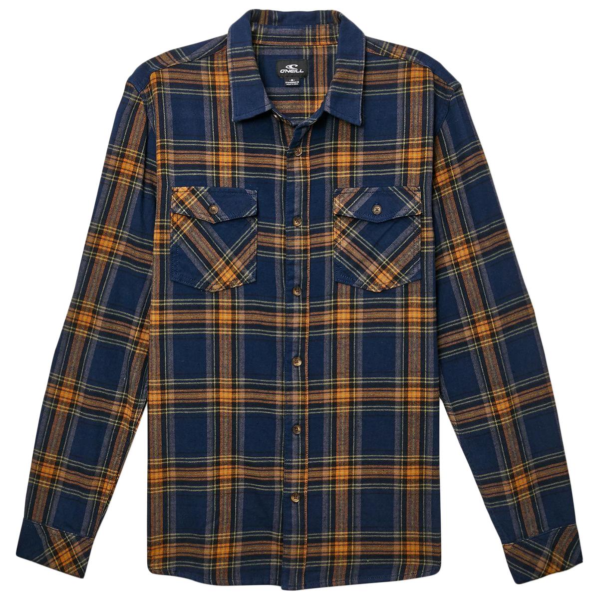 O'neill Men's Highland Flannel Shirt - Blue, L