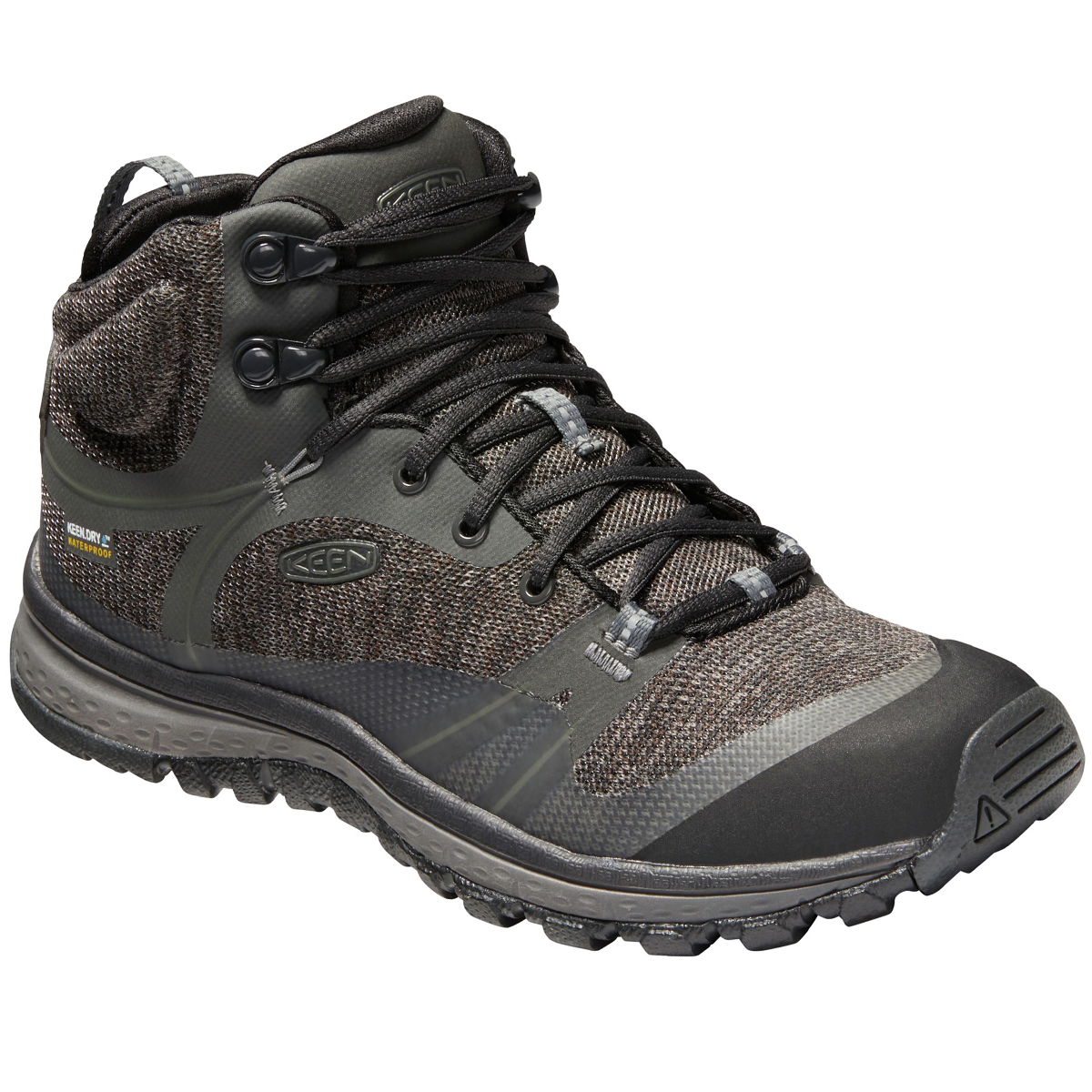 Keen Women's Terradora Mid Waterproof Hiking Shoes - Black, 9.5