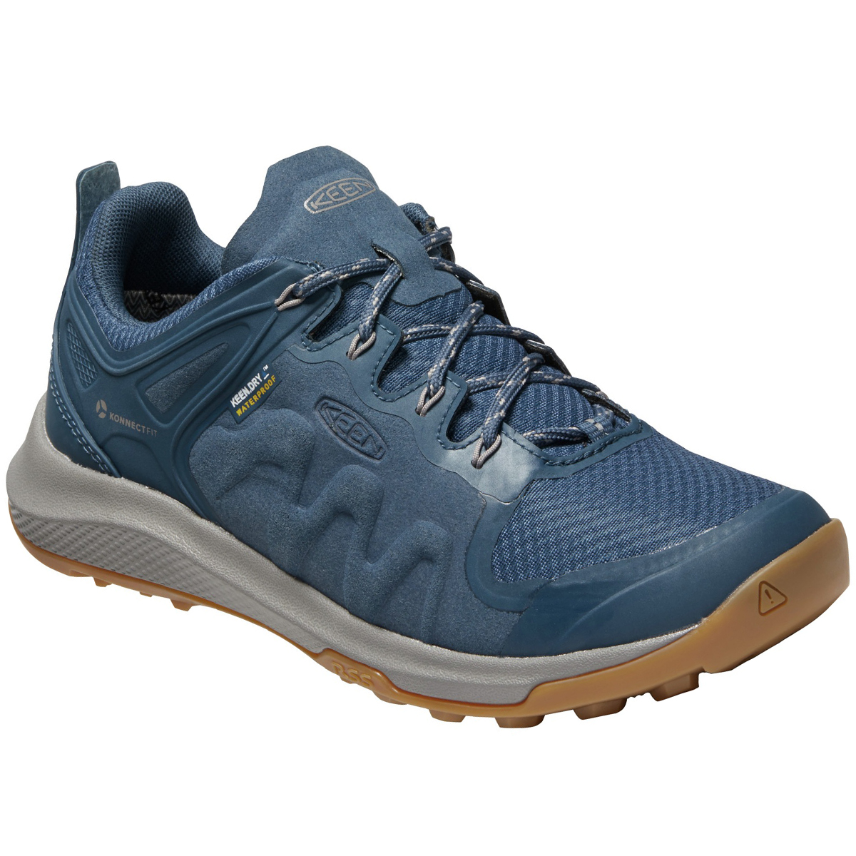 Keen Women's Explore Low Waterproof Mountain Sneakers - Blue, 8