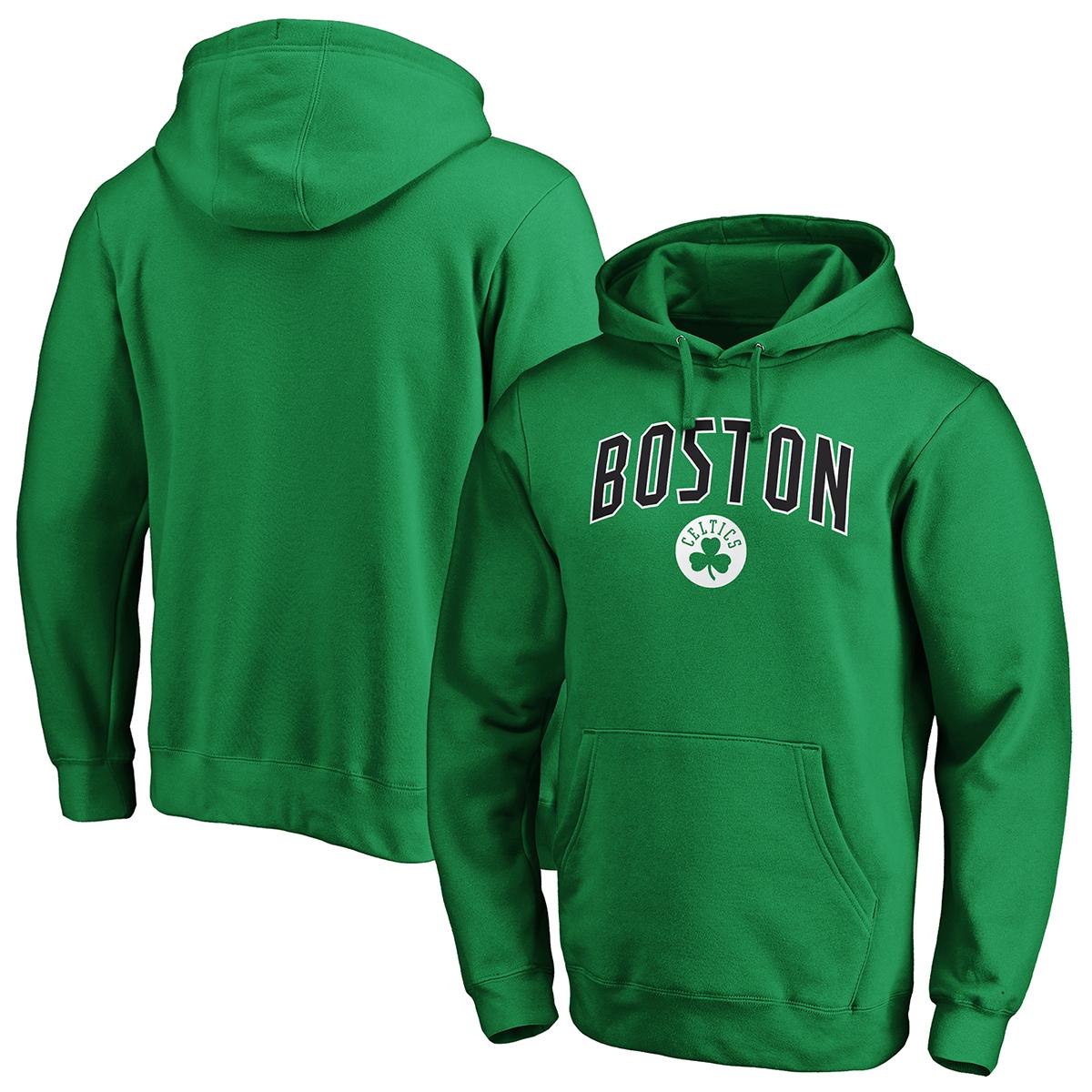 Boston Celtics Men's Engage Arch Pullover Hoodie - Green, XL