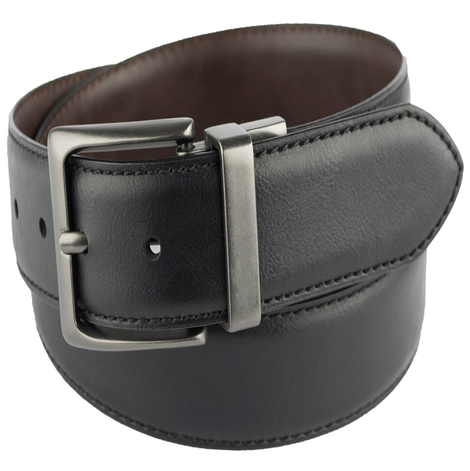 Levi's Men's 38Mm Reversible Leather Belt With Logo Shank - Black, 34