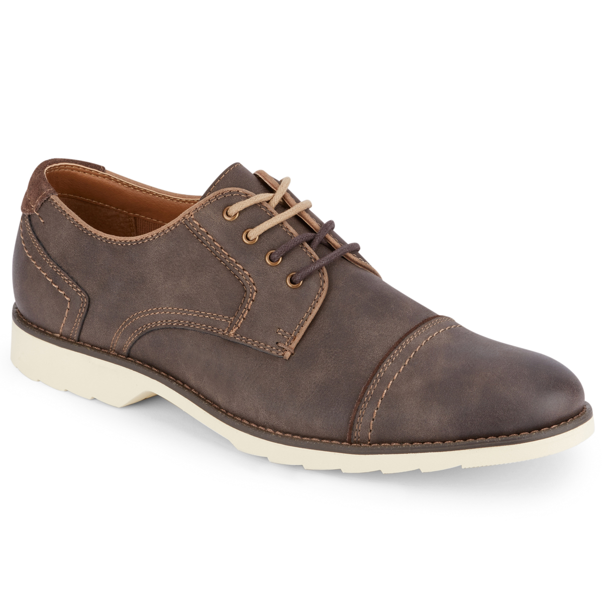 Dockers Men's Murray Cap Toe Oxford Shoes - Brown, 9