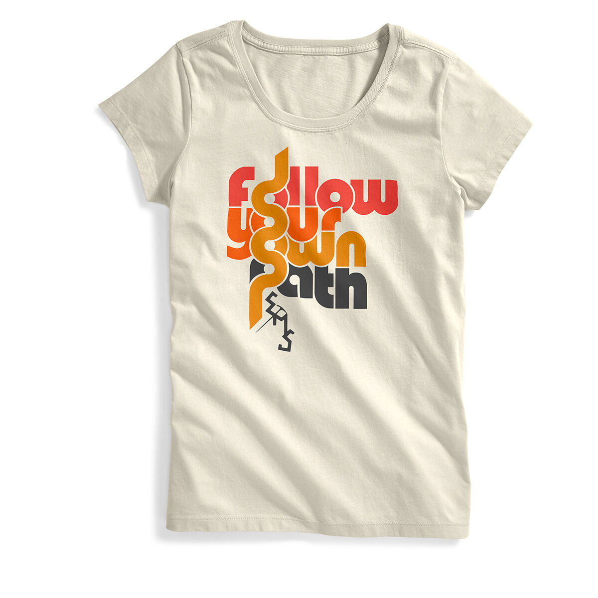 Ems Women's Follow Your Own Path Short-Sleeve Graphic Tee - White, XL