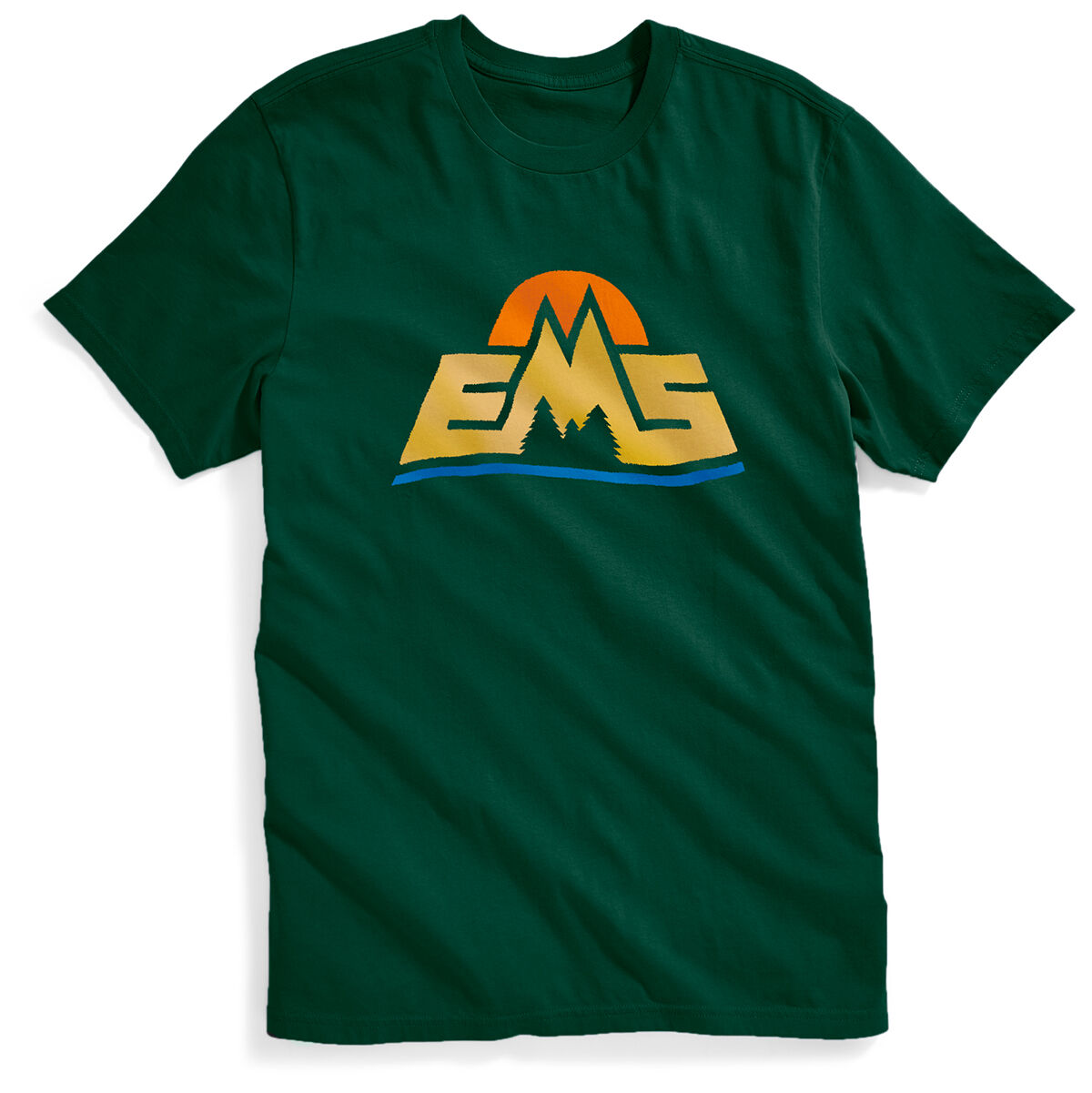 Ems Men's New Logo Short-Sleeve Graphic Tee - Green, L