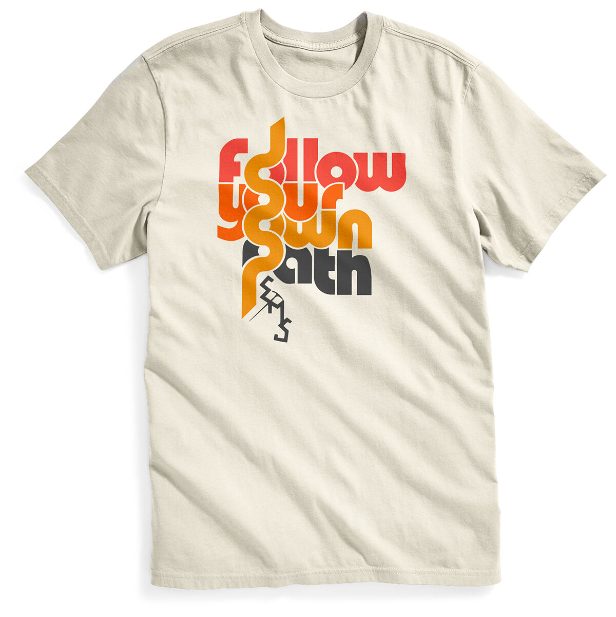 Ems Men's Follow Your Own Path Short-Sleeve Graphic Tee - White, M