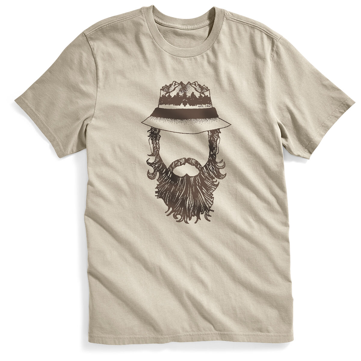 Ems Men's Mountain Man Short-Sleeve Graphic Tee - White, L