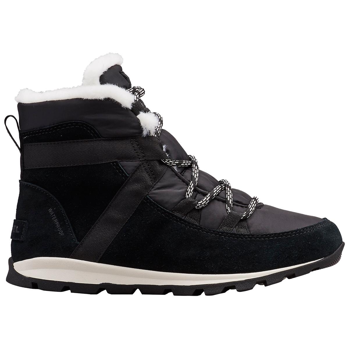 Sorel Women's Whitney Flurry Waterproof Winter Boot - Black, 7.5