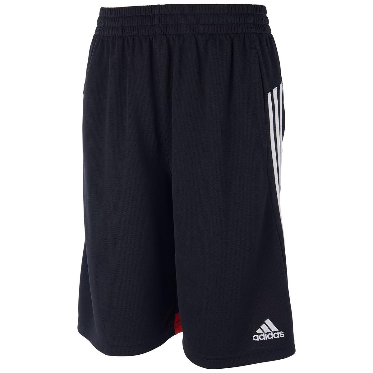 Adidas Boys' 4Krft 3 Stripe Shorts - Black, L