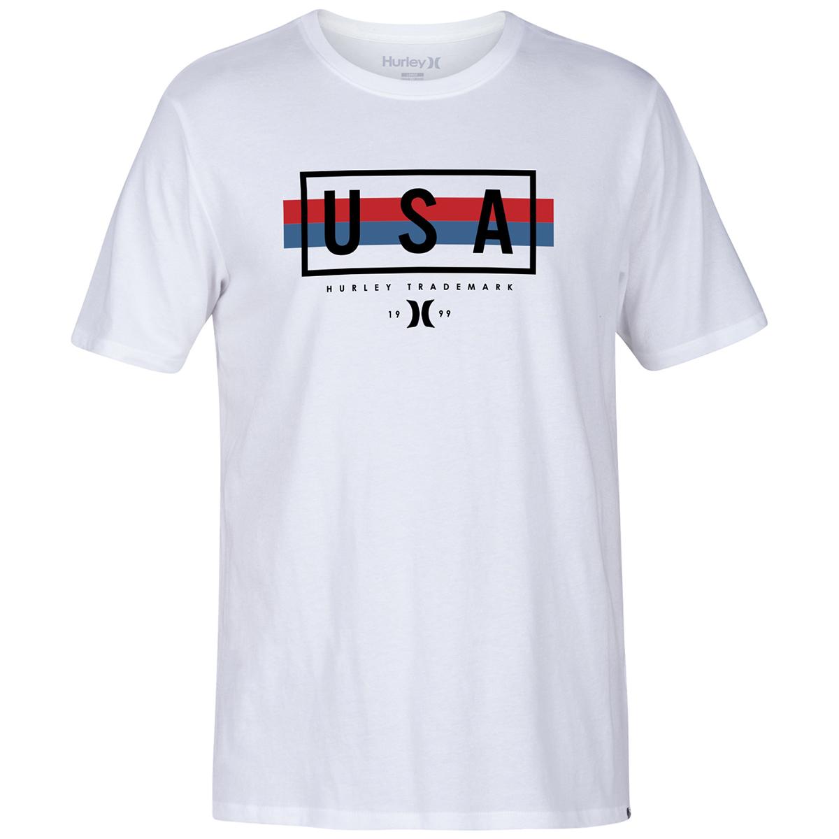 Hurley Men's Short-Sleeve Segall Tee - White, XL
