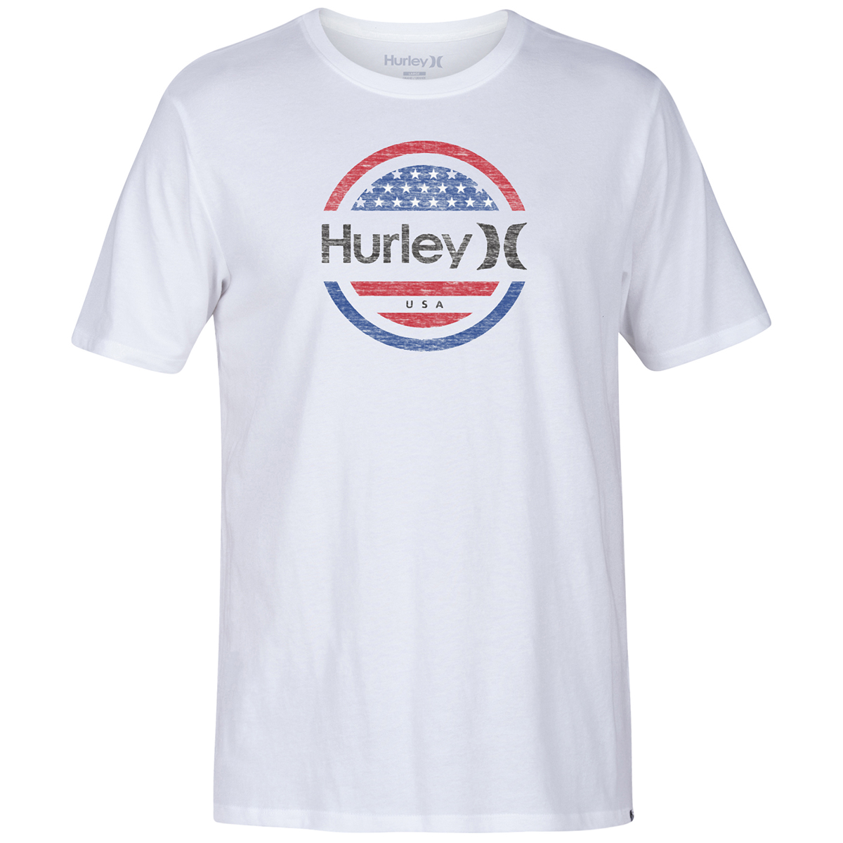 Hurley Men's Premium One And Only Circle Graphic Tee - White, M