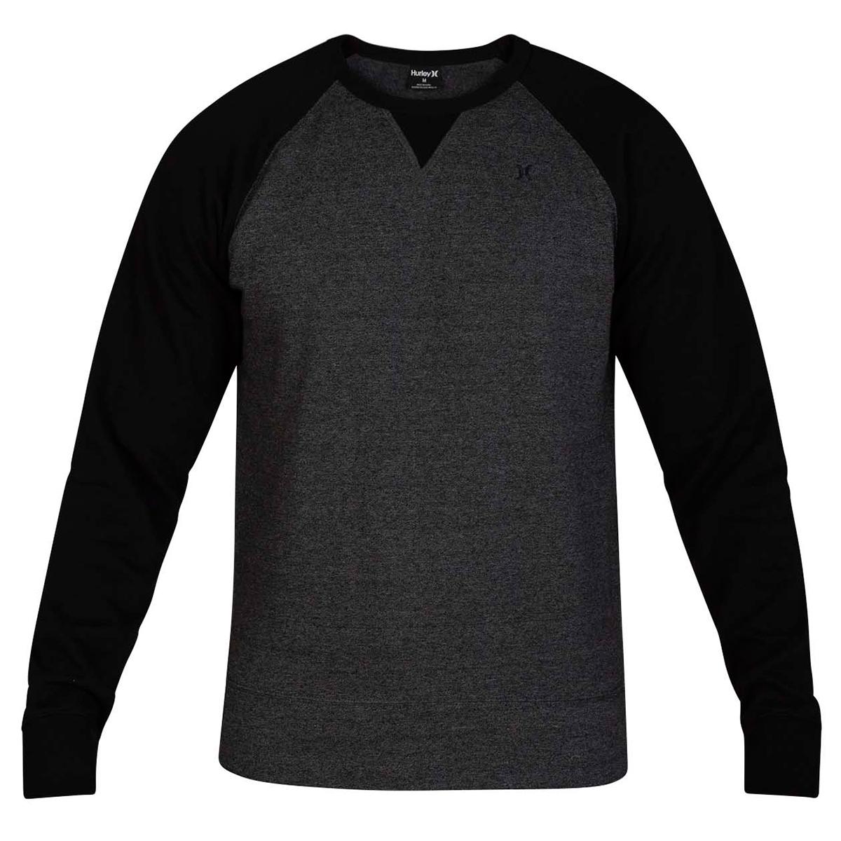 Hurley Men's Crone Long-Sleeve Crew - Black, XL