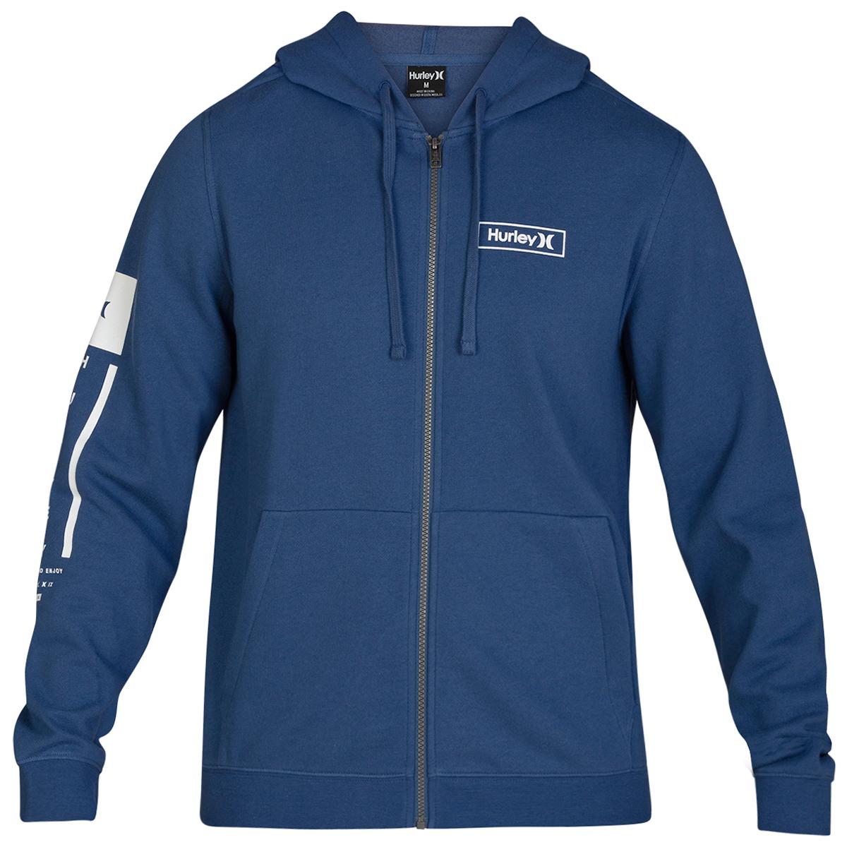 Hurley Men's Right Arm Full-Zip Jacket - Blue, M