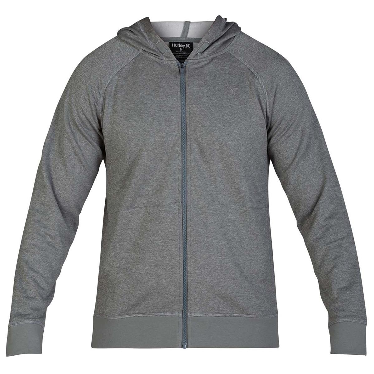 Hurley Men's Dry-Fit Disperse Full Zip Hoodie - Black, XL