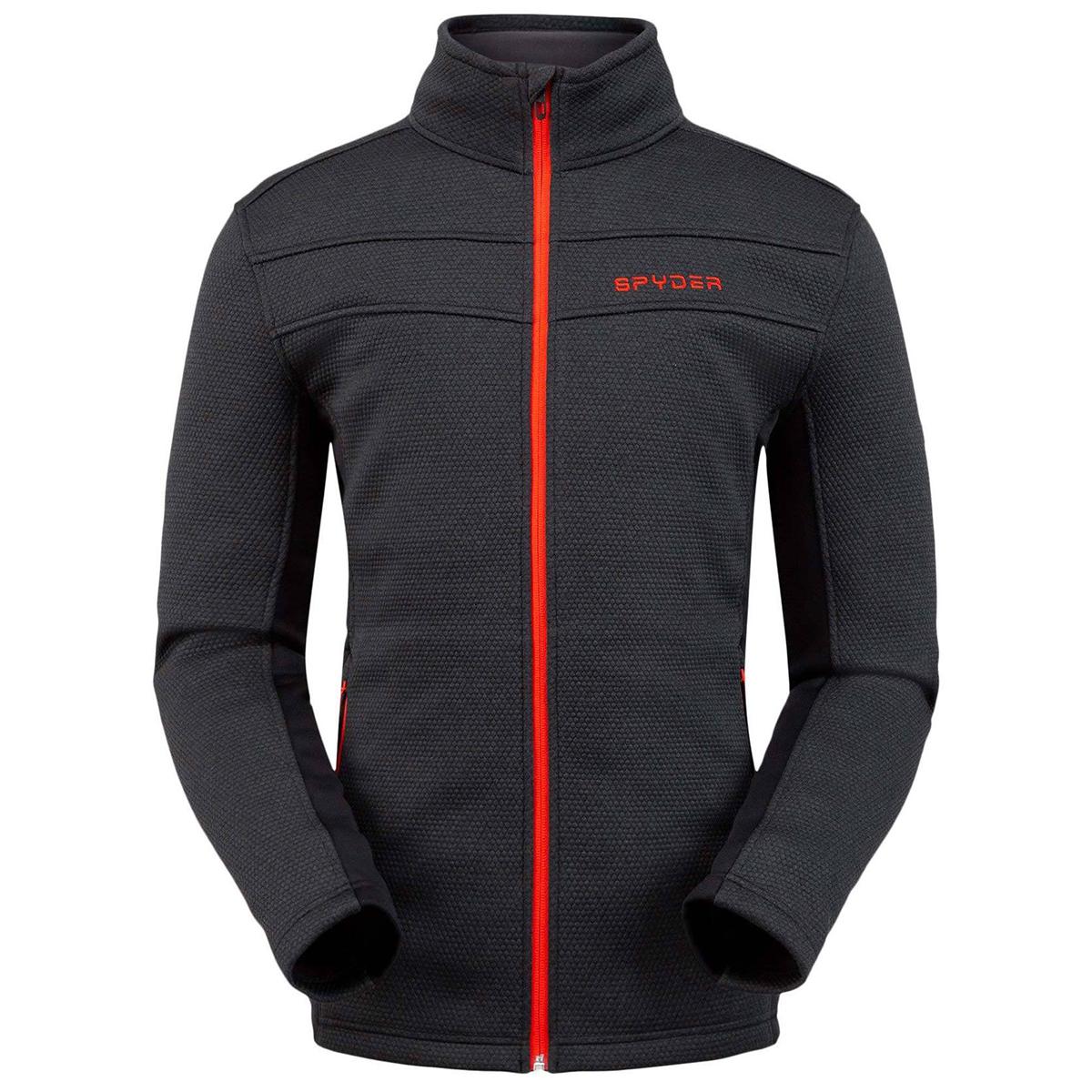 Spyder Men's Encore Full Zip Fleece Jacket - Black, M