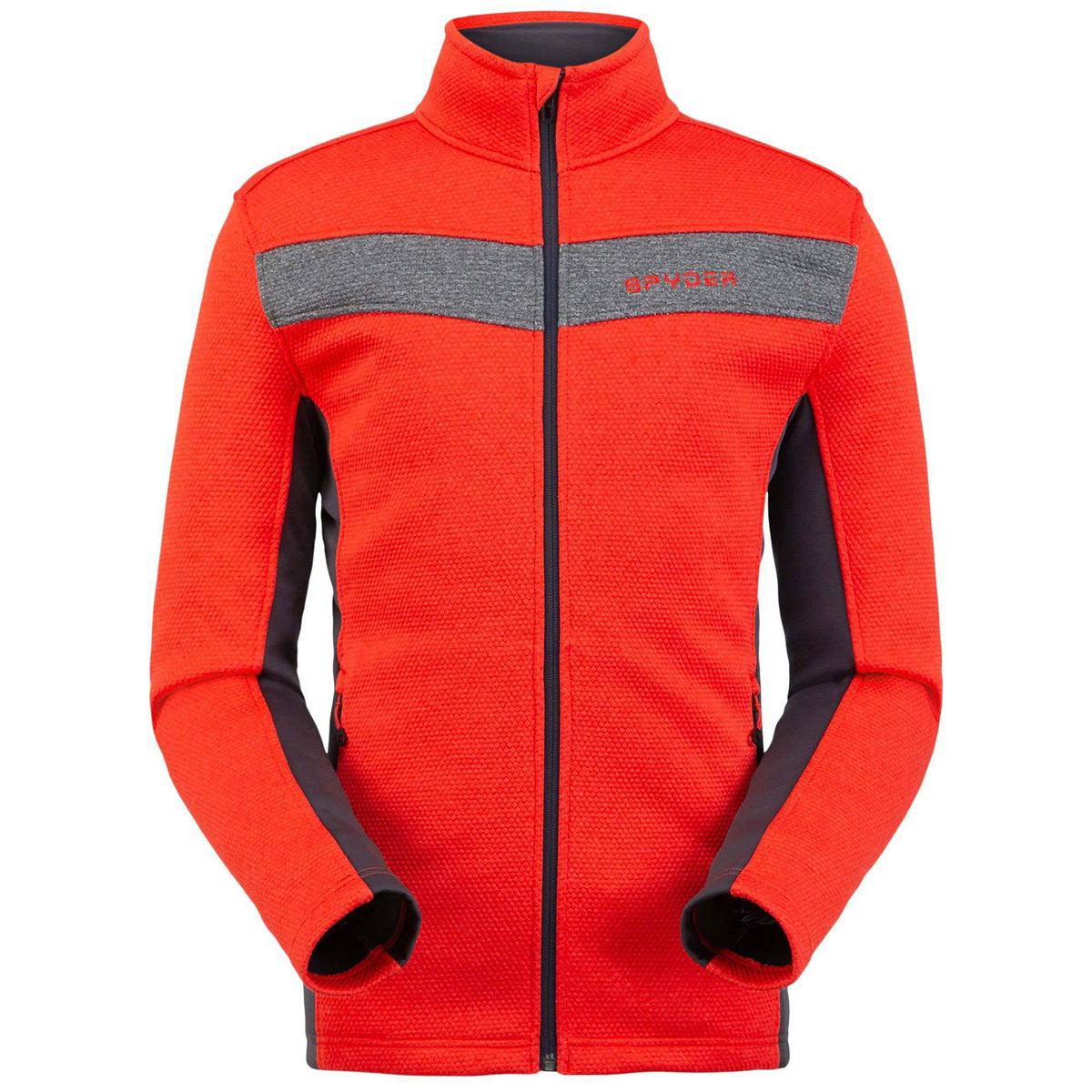 Spyder Men's Encore Full Zip Fleece Jacket - Red, M