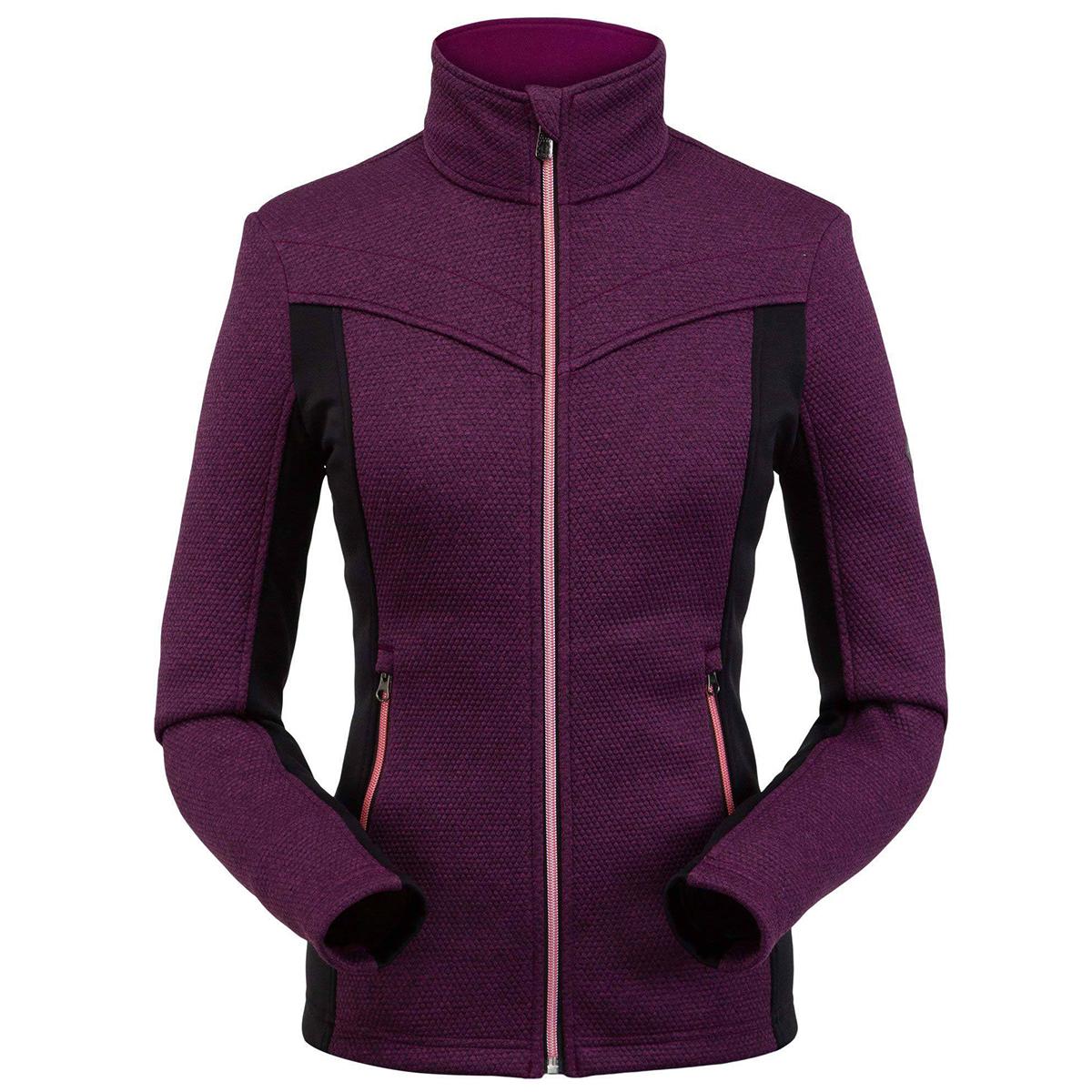 Spyder Women's Encore Full Zip Fleece Jacket - Purple, S