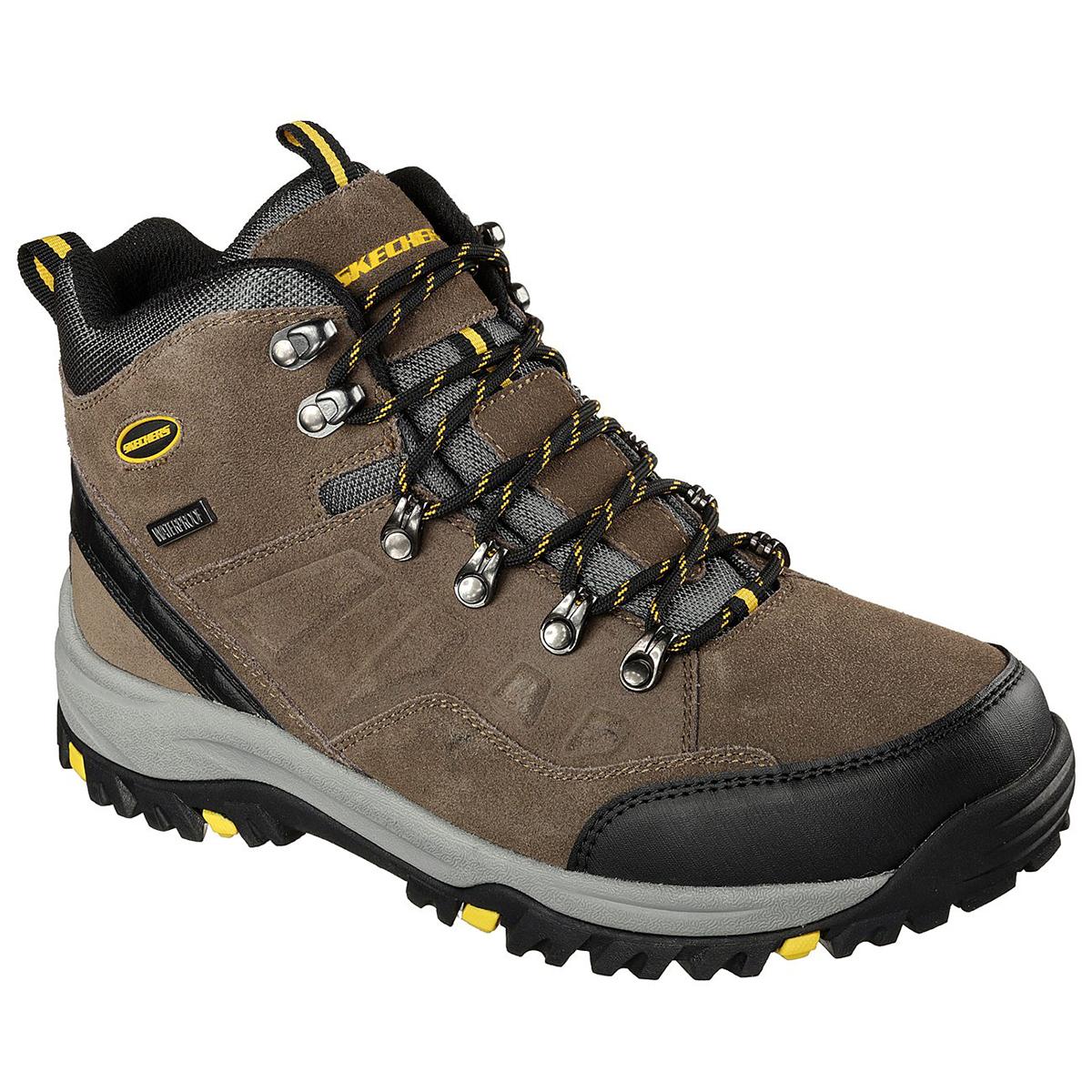 Skechers Men's Relment Pelmo Lace Up Boots, Wide - Brown, 8