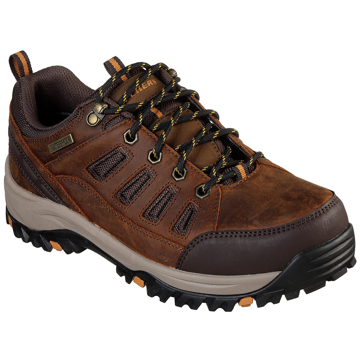 Skechers Men's Relaxed Fit Relment-Semego Hiking Shoe - Brown, 9.5