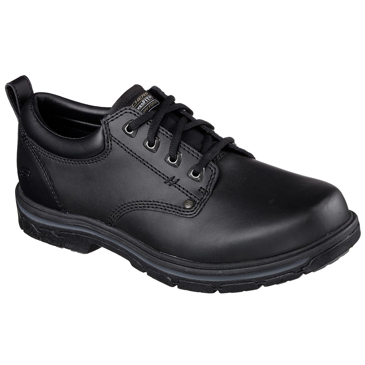 Skechers Men's Segment Rilar Lace Up Shoes, Wide - Black, 11