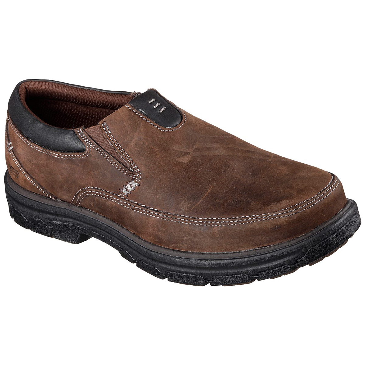 Skechers Men's Segment The Search Slip On Shoes, Relaxed Fit - Brown, 9