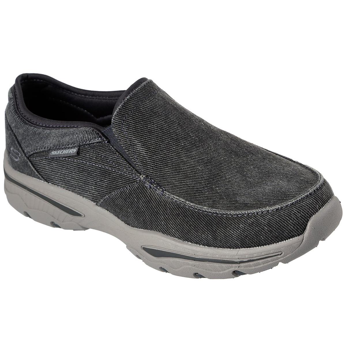 Skechers Men's Relaxed Fit Creston-Moseco Slip-On Shoe - Black, 9.5