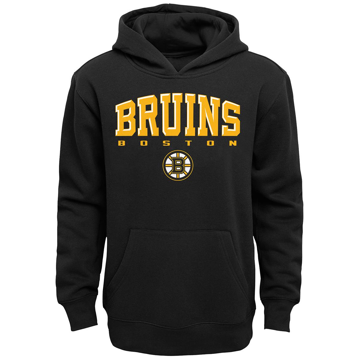 Boston Bruins Boys' Adapt Pullover Hoodie - Black, M