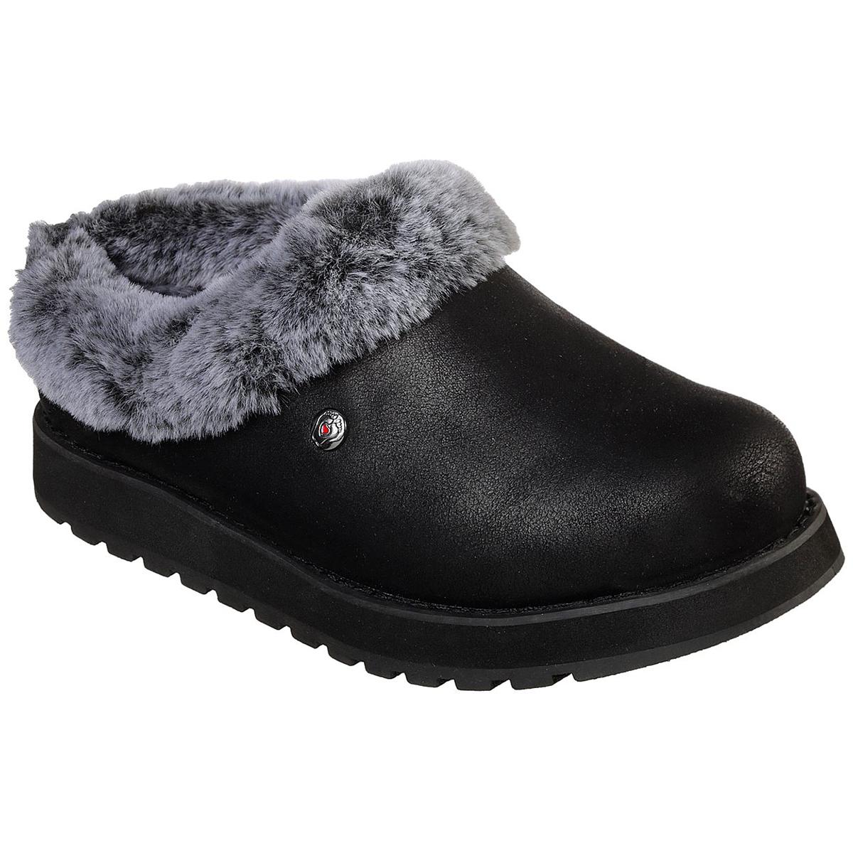 Skechers Women's Keepsakes R E M Shootie Fur Lined Casual Slip On Shoes - Black, 6