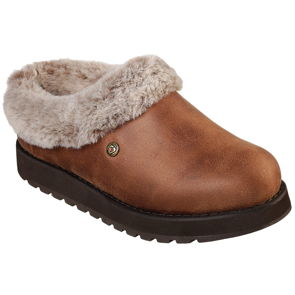Skechers Women's Keepsakes R E M Shootie Fur Lined Casual Slip On Shoes - Brown, 7