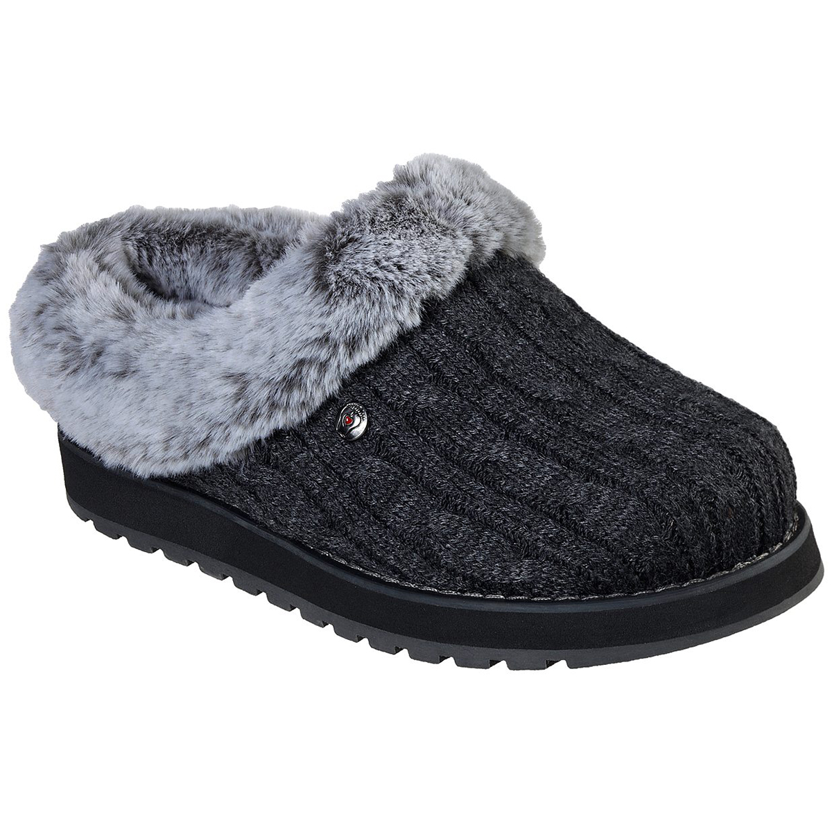 Skechers Women's Keepsakes Ice Angel Clog Slipper - Black, 9