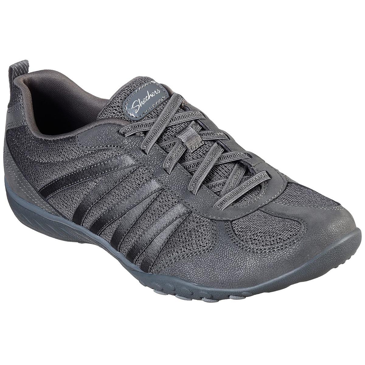 Skechers Women's Breathe Easy Be Relaxed Knit Slip On Shoes - Black, 7.5