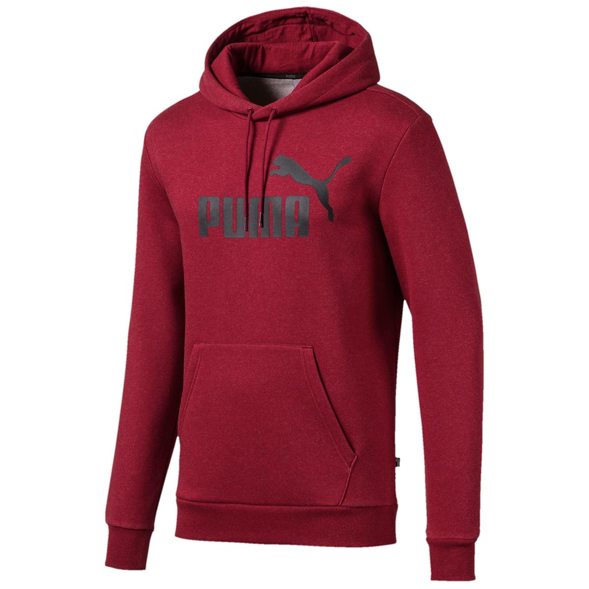 Puma Men's Essential Fleece Hoodie - Red, XXL