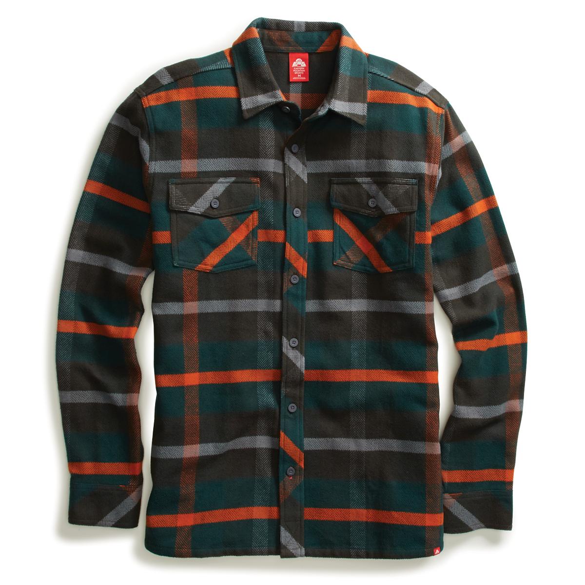 Ems Men's Cabin Flannel Long-Sleeve Shirt - Green, S