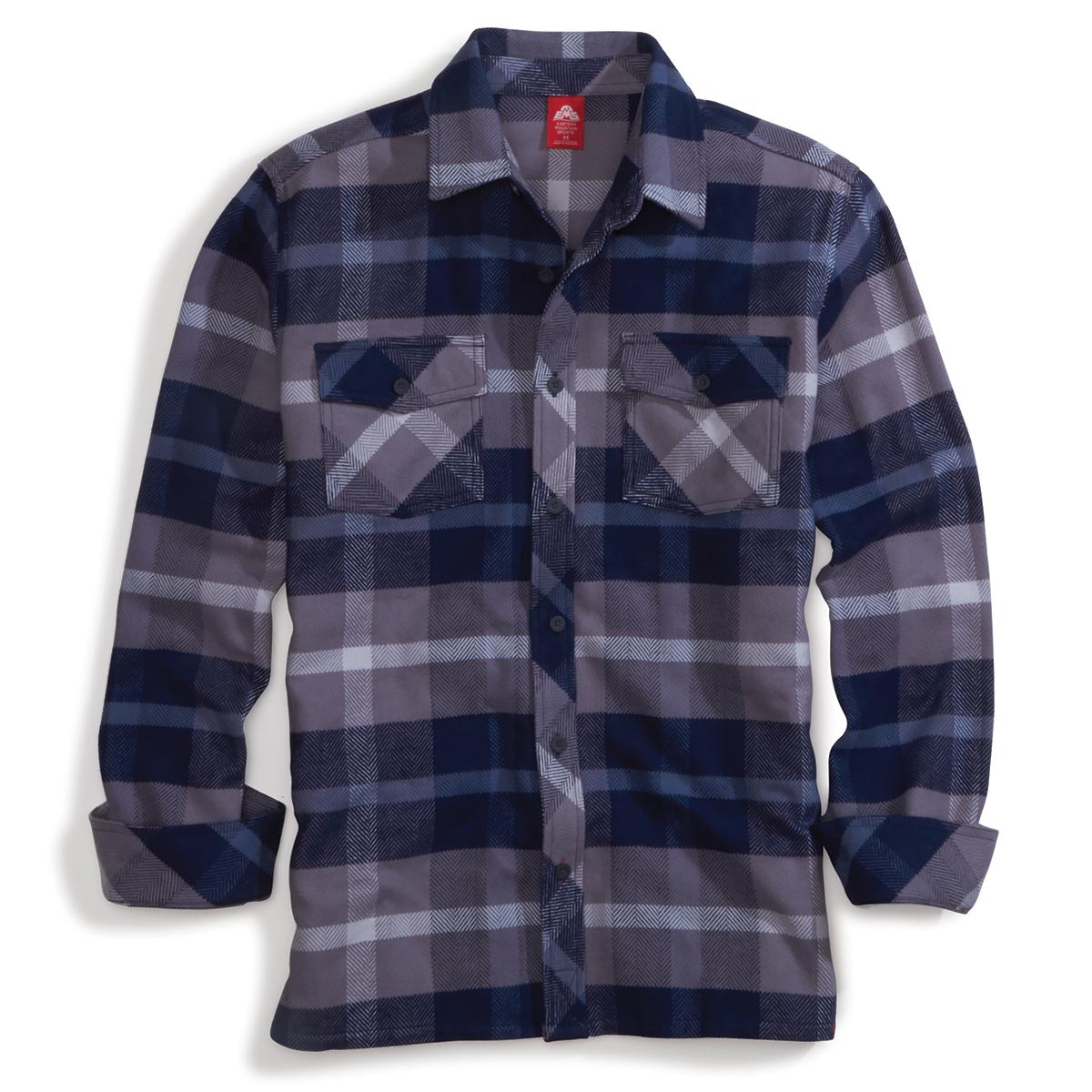 Ems Men's Cabin Flannel Long-Sleeve Shirt - Blue, S