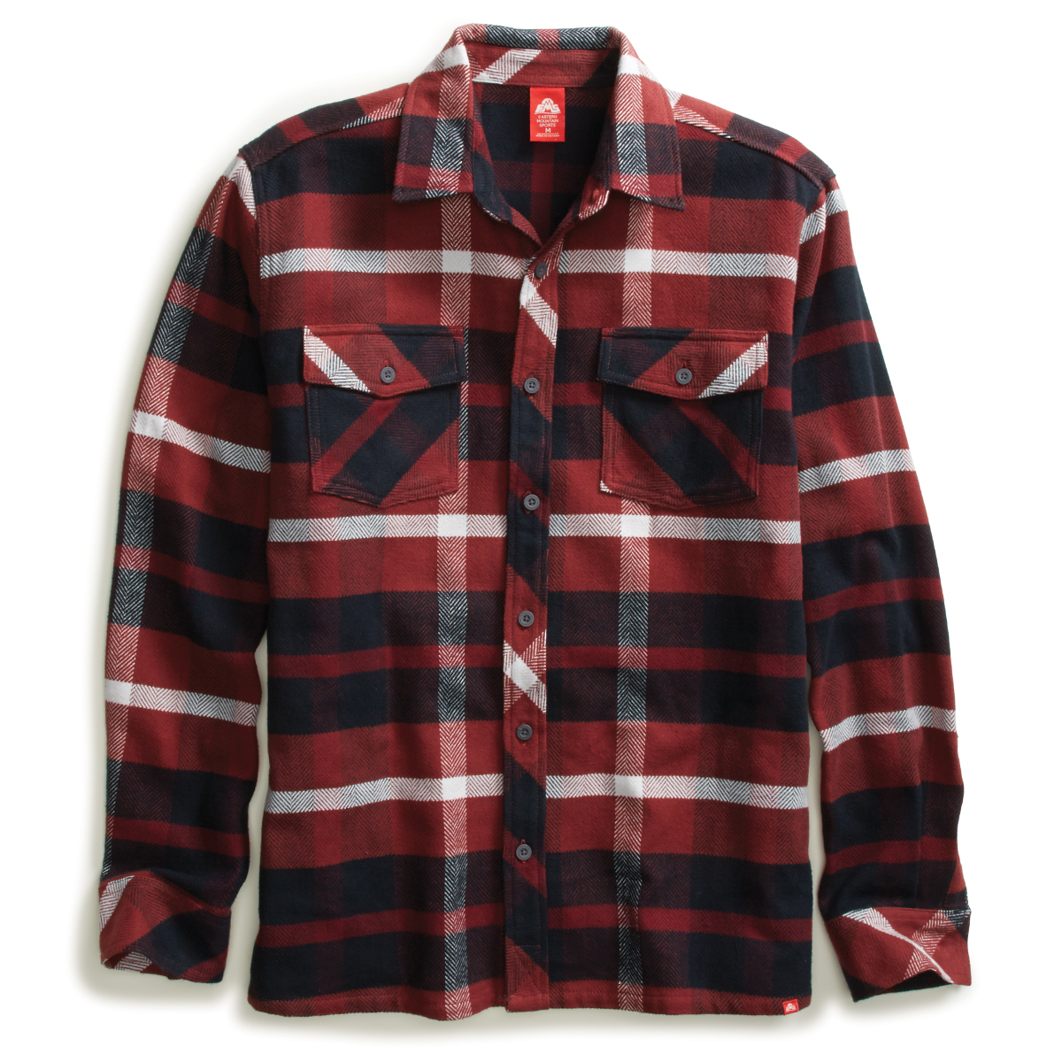 Ems Men's Cabin Flannel Long-Sleeve Shirt - Red, S