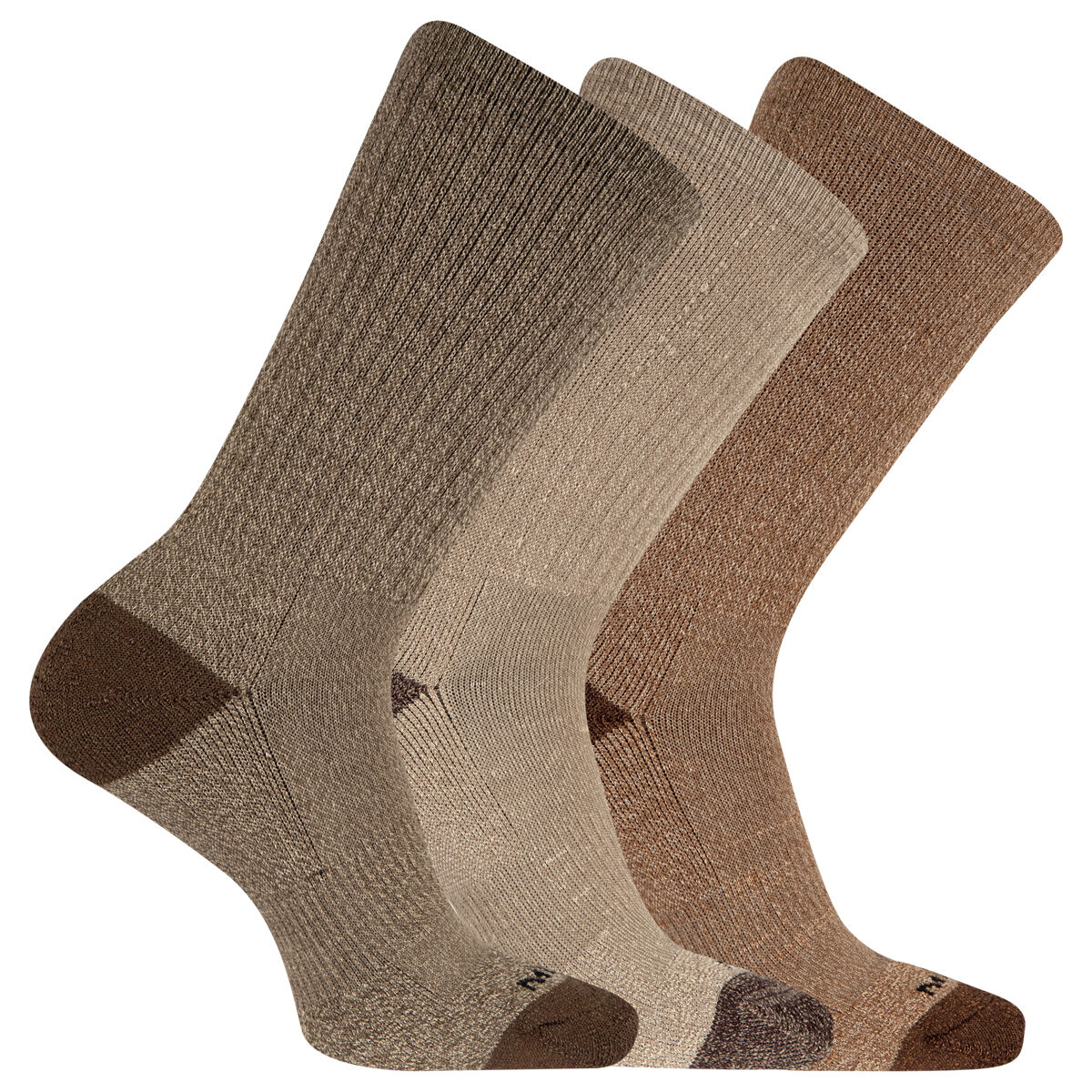 Merrell Men's Cushioned Crew-Length Performance Hiker Socks, 3-Pack - Green, L/XL