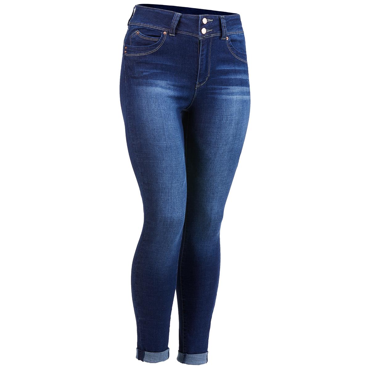 YMI Juniors' Wanna Betta Butt High-Rise Denim Ankle Jeans - Blue, 7