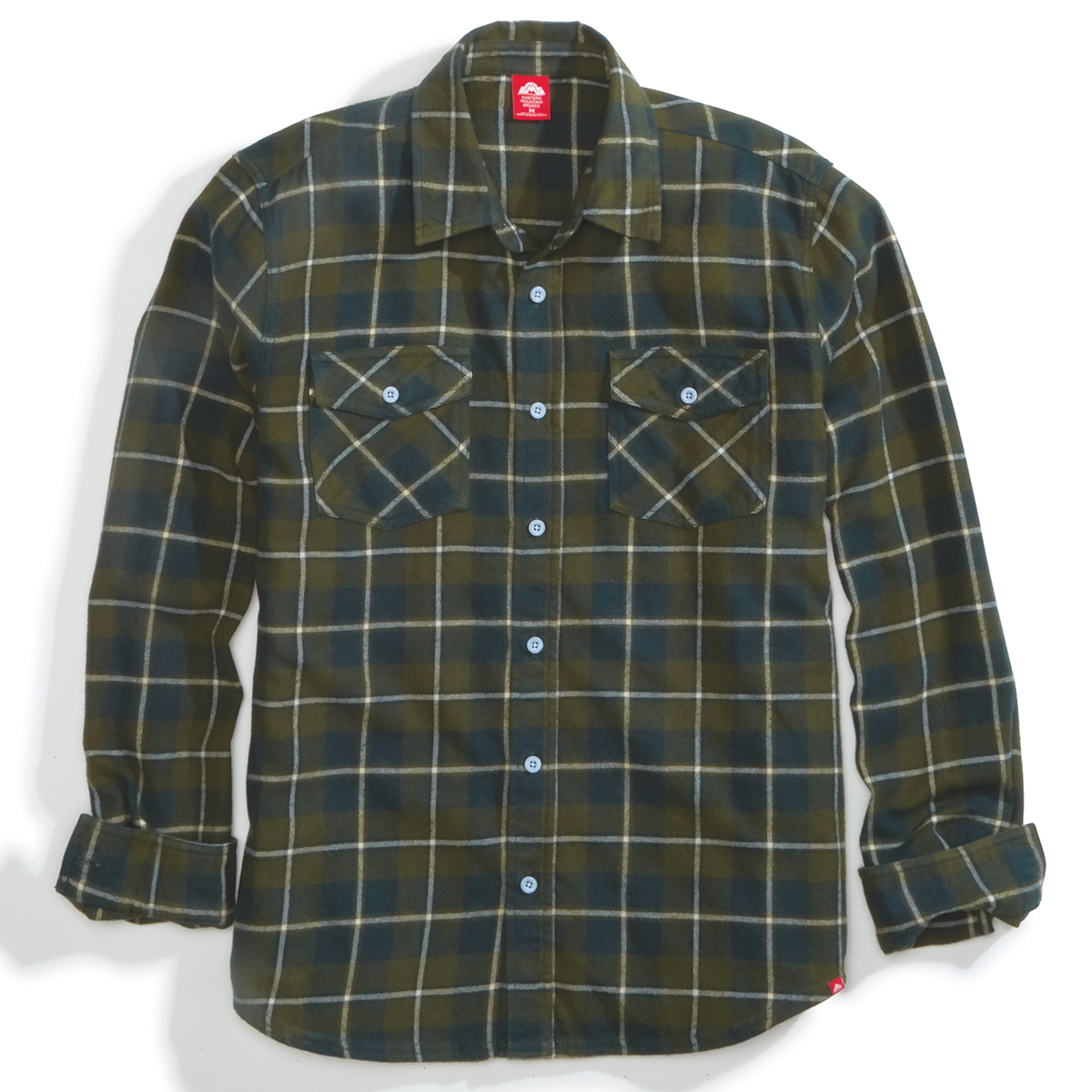Ems Men's Timber Flannel Long-Sleeve Shirt - Green, S
