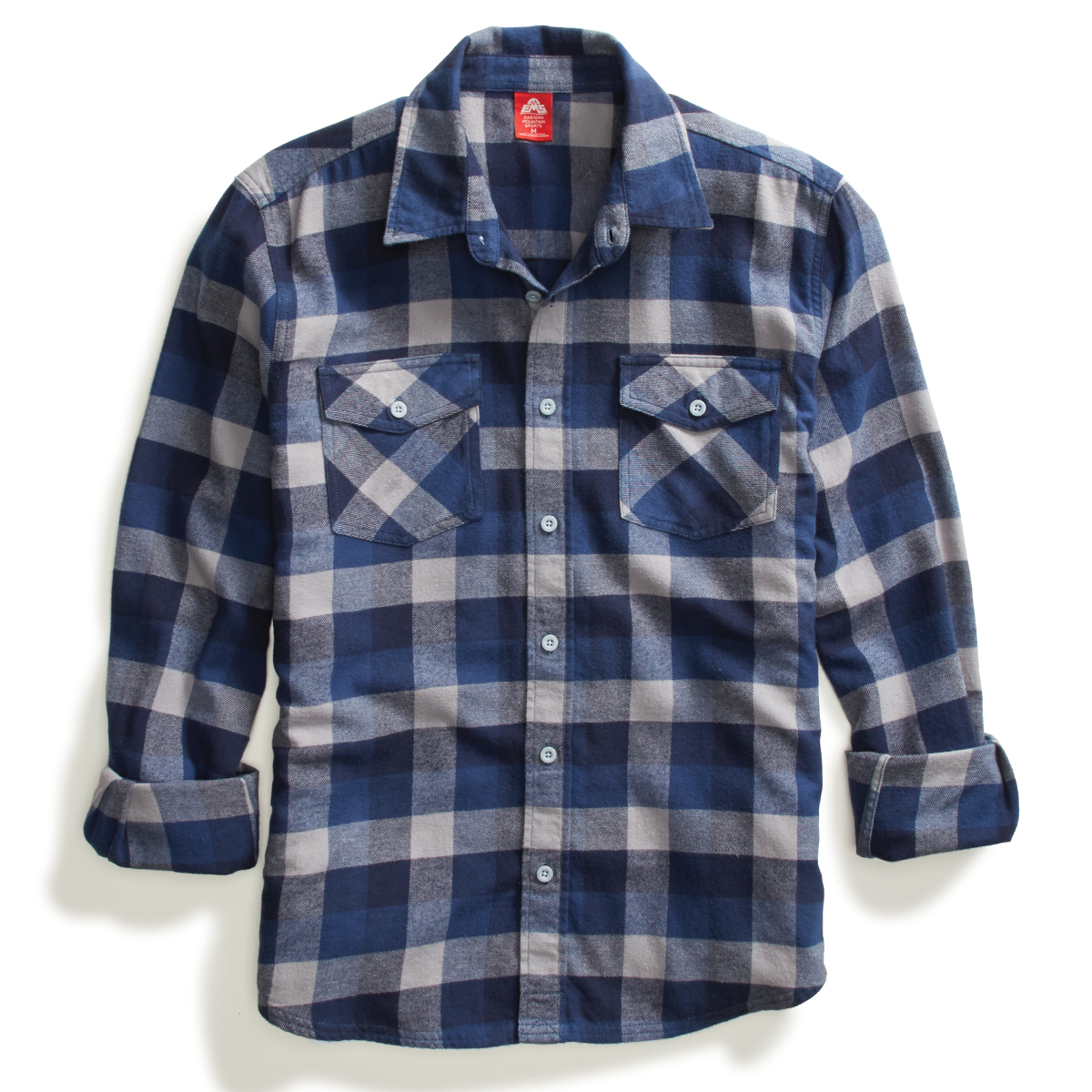 Ems Men's Timber Flannel Long-Sleeve Shirt - Blue, S