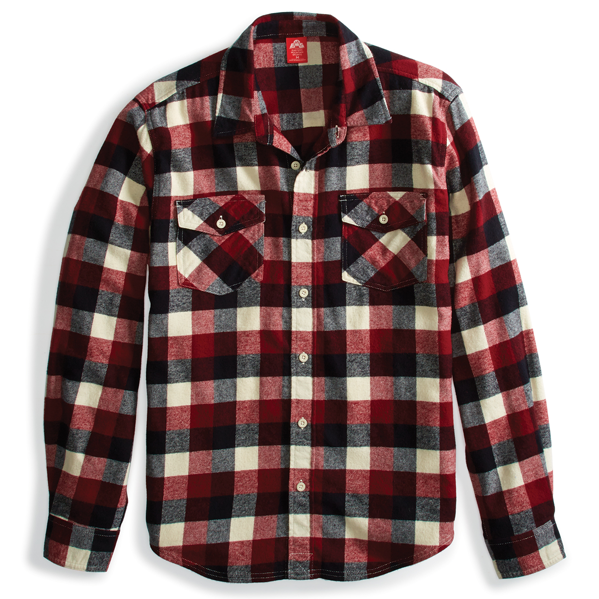 Ems Men's Timber Flannel Long-Sleeve Shirt - Red, S