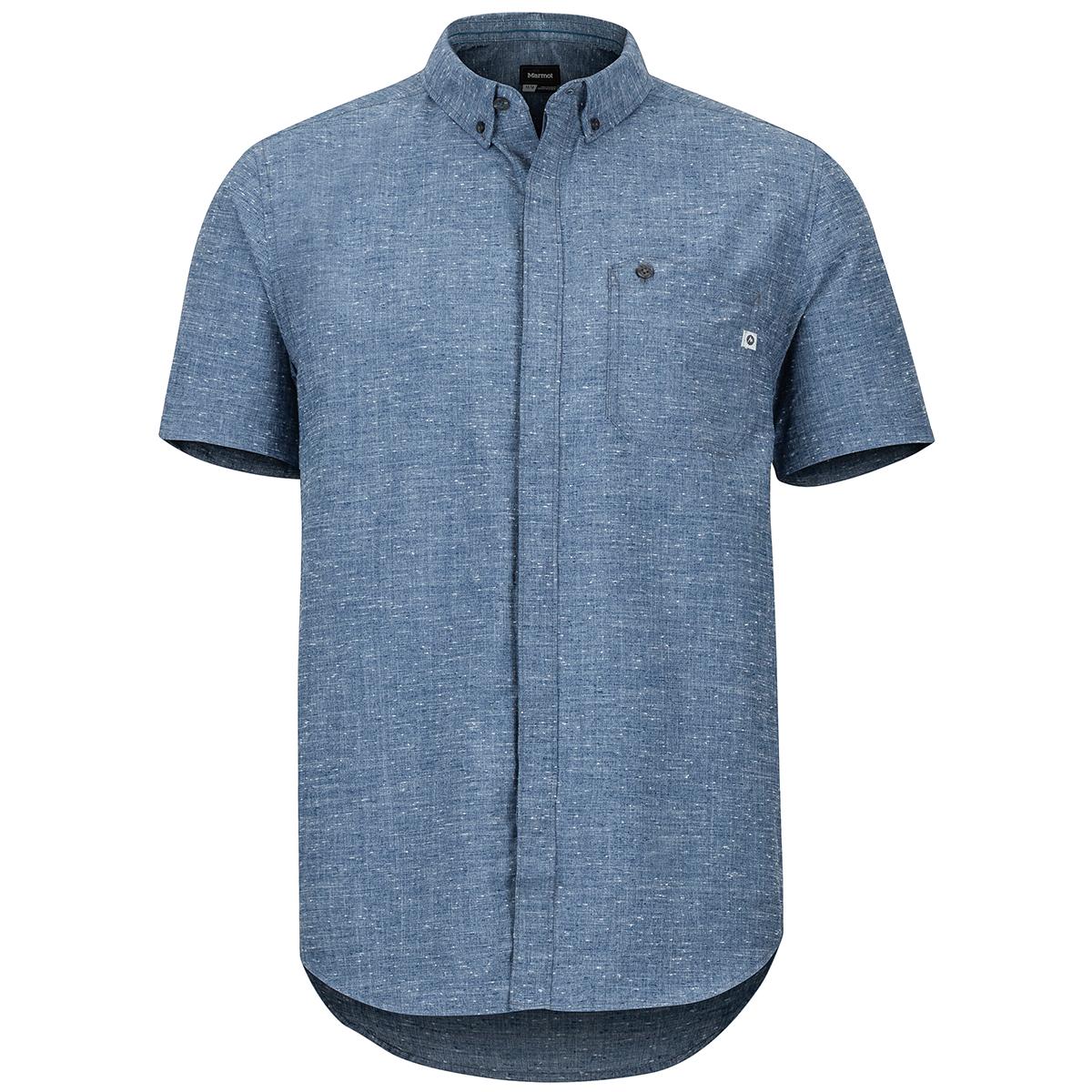 Marmot Men's Cooper Canyon Short-Sleeve Shirt - Blue, L