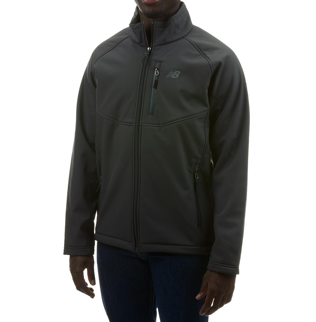 New Balance Men's Soft Shell Jacket With Sherpa Lining - Black, XXL