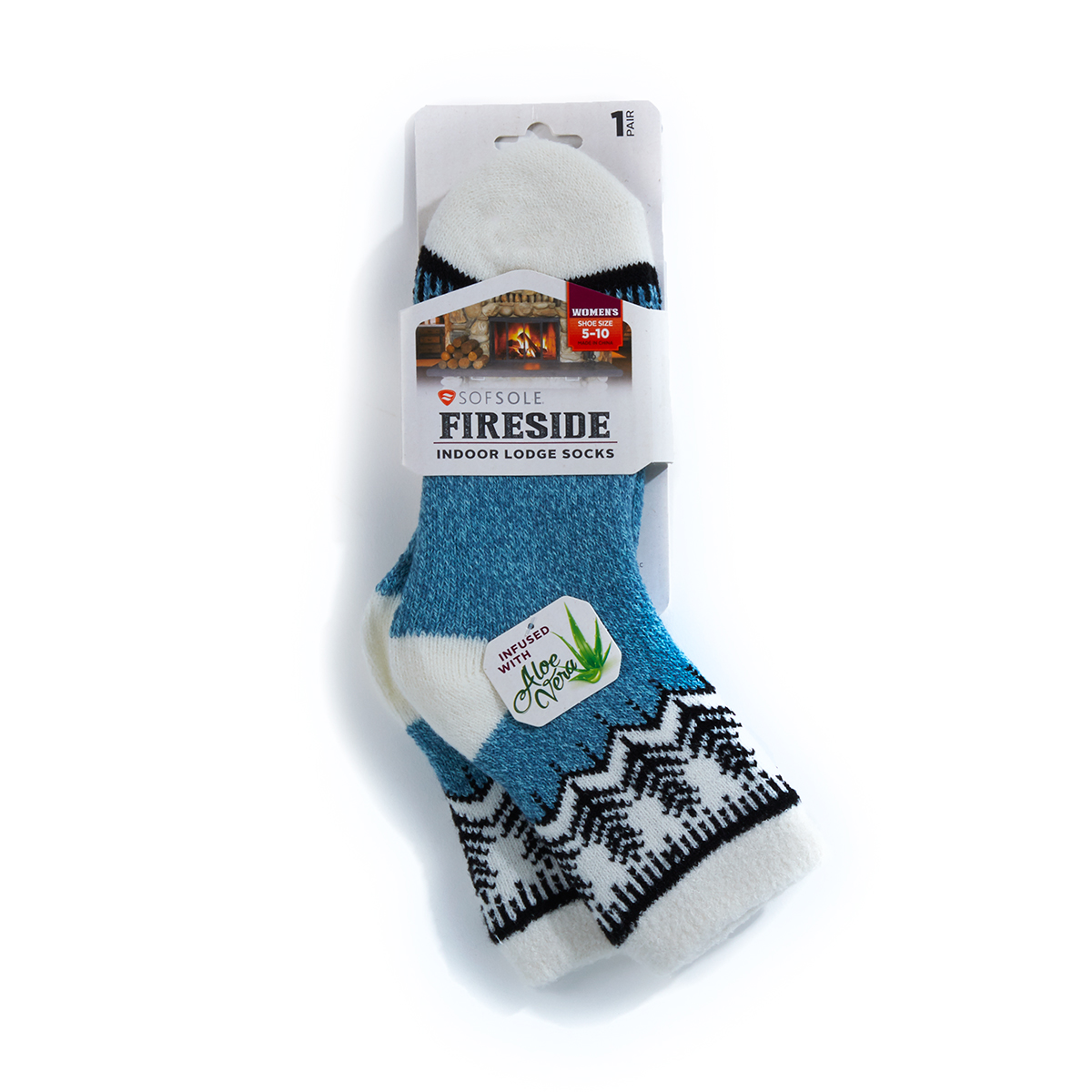Sof Sole Women's Fireside Chevron Socks - Blue, M