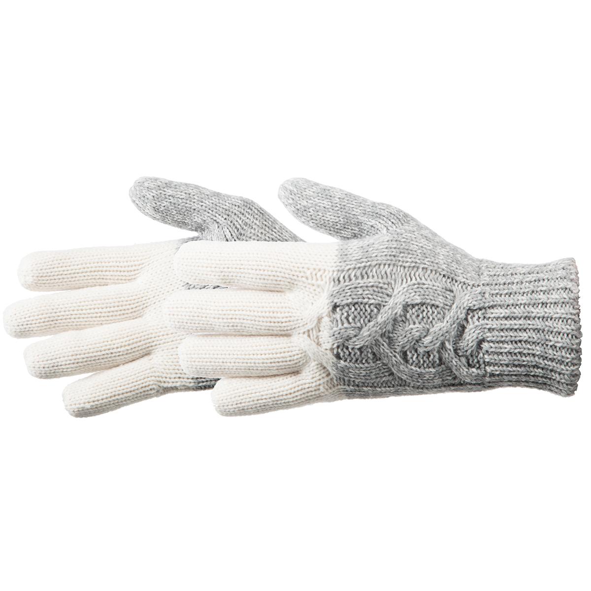 Manzella Women's Color Block Cable Knit Gloves