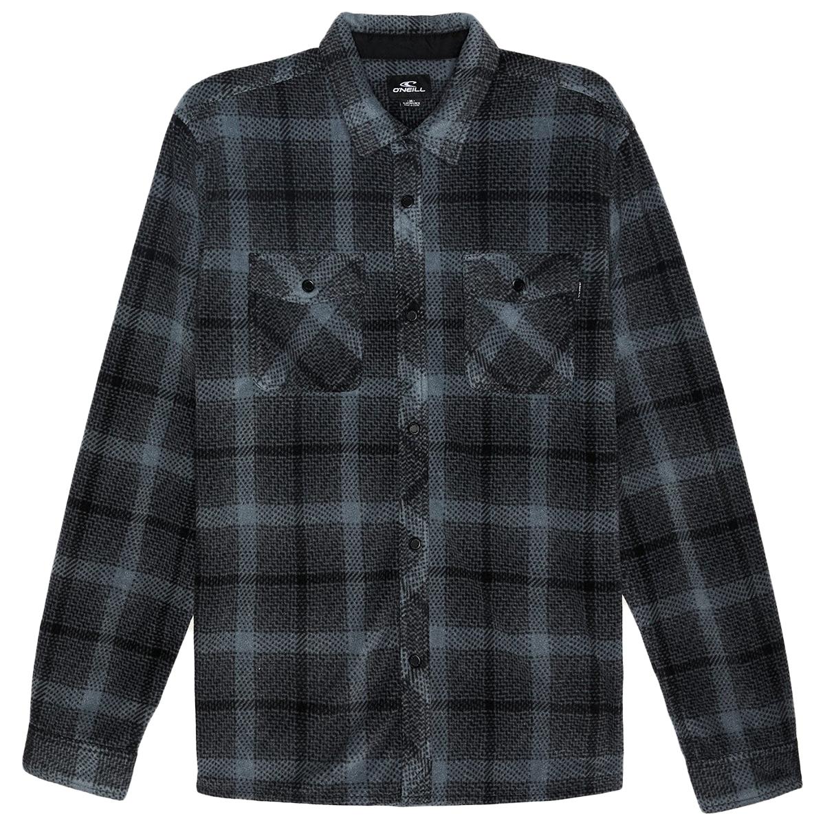 O'neill Men's Glacier Peak Long-Sleeve Flannel Shirt - Blue, S